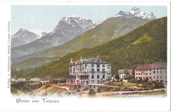Vulpera Switzerland  city pictures gallery : Gruss aus Vulpera, Switzerland, Antique Circa 1900 Unused Color ...