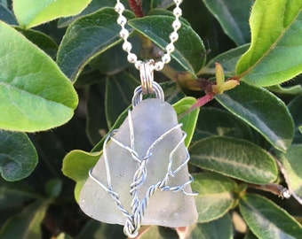 Seaglass/Tree of Life Necklace