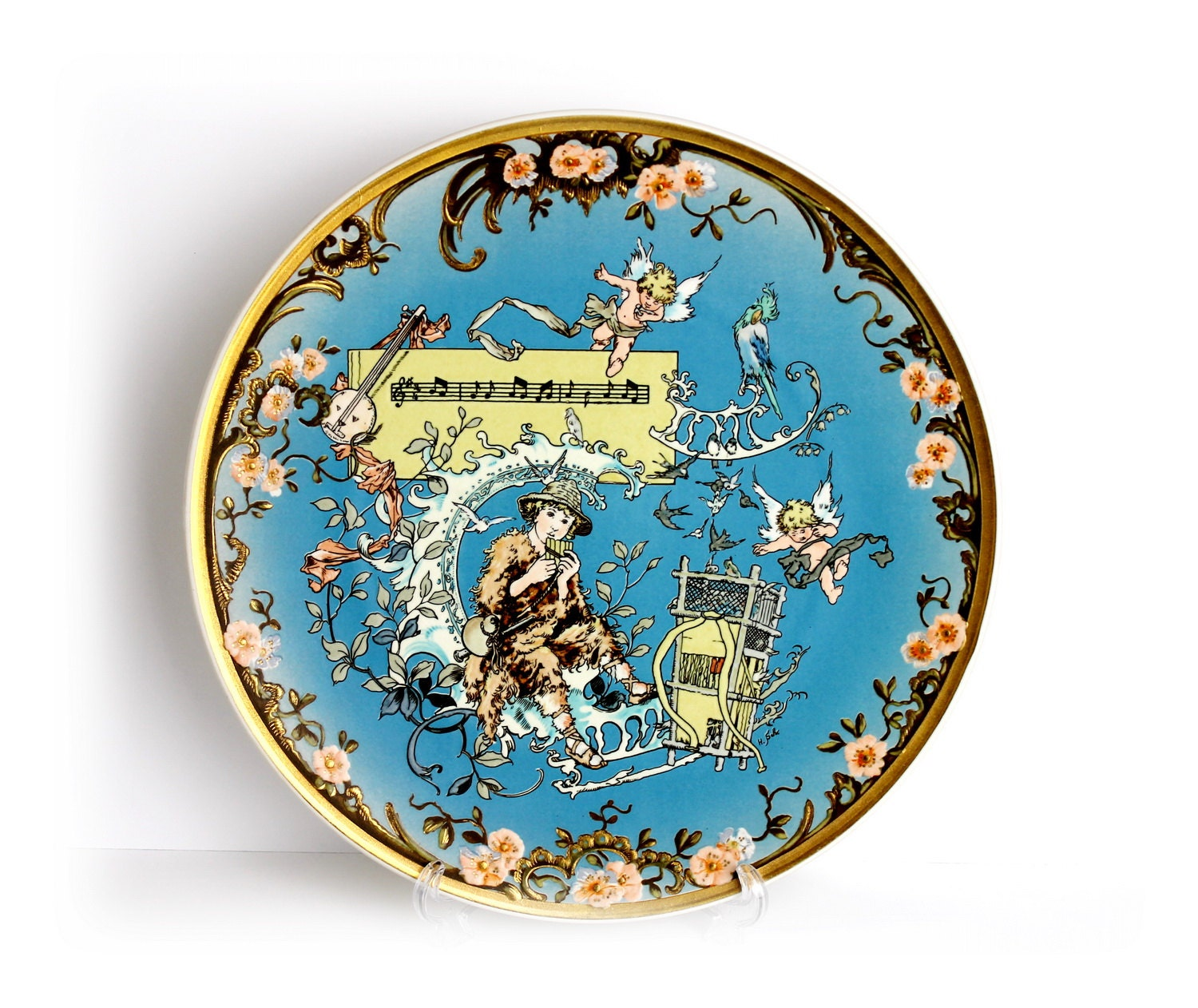 Big vintage villeroy and boch collectible plate papageno the for Villeroy and boch plates
