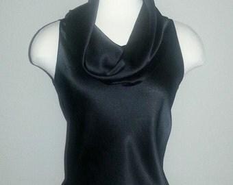 Vintage top, vintage blouse, 1970s top, 1970s blouse, vintage Giorgio Beverly Hills, vintage silk, black silk, Giorgio Beverly Hills blouse