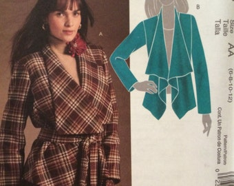 SALE Nice Wrap Jacket Pattern--- 5937----Sizes 6 Thru 12  UNCUT