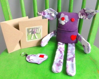 Handmade OOAK Soft Plush Art Toy Gift Set - Bernard the Eco Dude