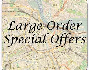European Coasters, large orders