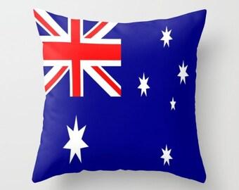 Australia Flag Pillow Cover Australia Flag Indoor Pillow Australia Flag Outdoor Pillow Australia Decorative Pillow Australia Office Decor