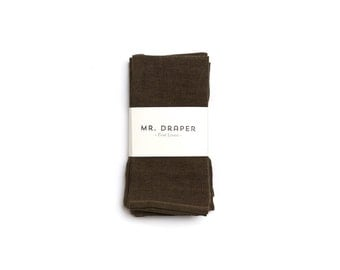 100% Linen Napkin in Drab Green (set of four)