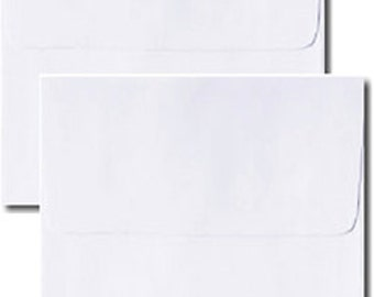 """25 Square Double Wedding Envelope Sets - White Outer & Inner Envelopes - 6 1/2"""" Square - CLEARANCE"""