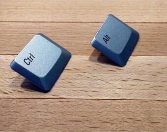 Techie Keyboard Earrings - Personalized Clip-On Computer Key Earrings