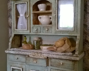 Miniature dollhouse KITCHEN SHELF-miniature kitchen cabinet
