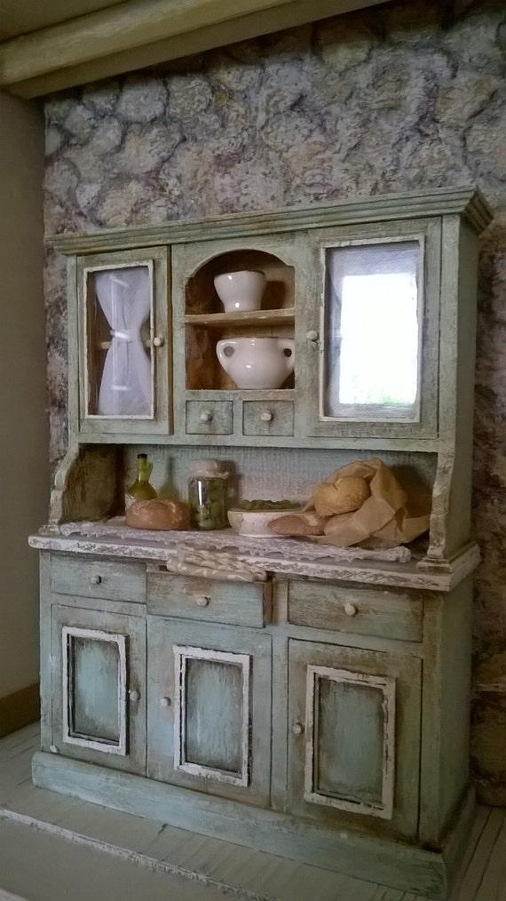 Items similar to Miniature dollhouse KITCHEN SHELF ... - photo#12