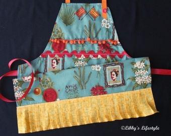 Frida Kahlo women's apron. Handmade.