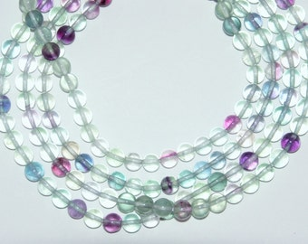 Fluorite Beads, 6mm Round Beads, Full Strand, 15.5 inches, AA Quality, Fast Shipping from USA