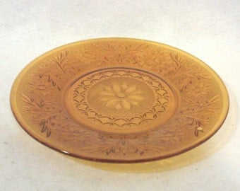 Gold Patterned Glass Dinner Plate Replacement-Pair
