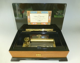 """Rare Vintage Reuge Music Box 72/3 """"CHIMES OF WORSHIP"""" Limited Edition (Watch The Video)"""