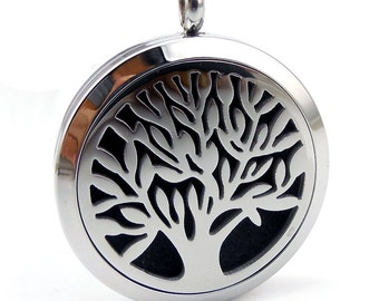 Essentail Oil Diffuser Necklace- Tree of Life