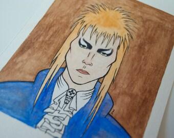 Watercolor Labyrinth Bowie - Original Art