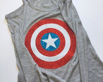 Captain America Avengers --Marvel Heros-- Inspired Tank Top for Men and Women