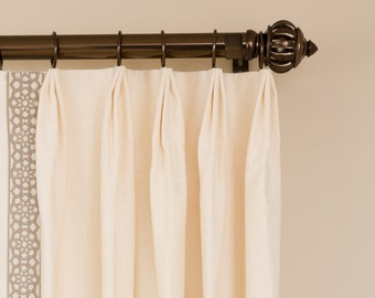 Types of Pleats / 10% off custom curtains/ drapery panels