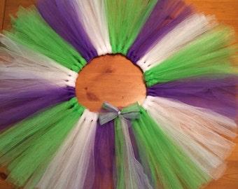 Buzz Lightyear inspired costume tutu purple, green and white.