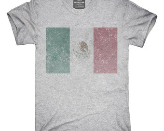 Retro Vintage Mexico Flag T-Shirt, Hoodie, Tank Top, Gifts
