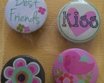 Refrigerator Magnets, Message Board Magnets, Locker Magnets, Best Friends, Kiss , Flower, Bird Magnets