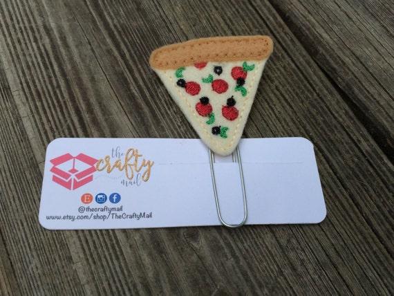 Pizza Planner Clip/Paper Clip/Feltie Clip. Pizza night planner clip