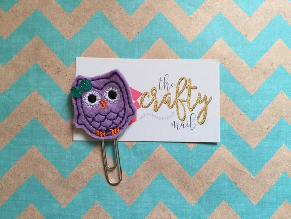 Owl Paper Clip/Planner Clip/planner supplies. Choose with or without bow