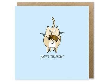 Original Cat Birthday Card