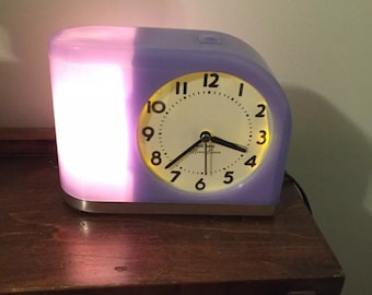 Moon Beam clock- Purple-Excellent shape- Read description please