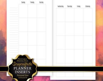Undated Month Personal Planner Insert Printable Digital File (00224)