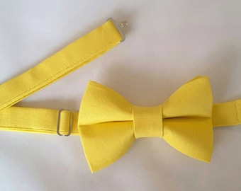 Mens Bright Yellow Bow Tie
