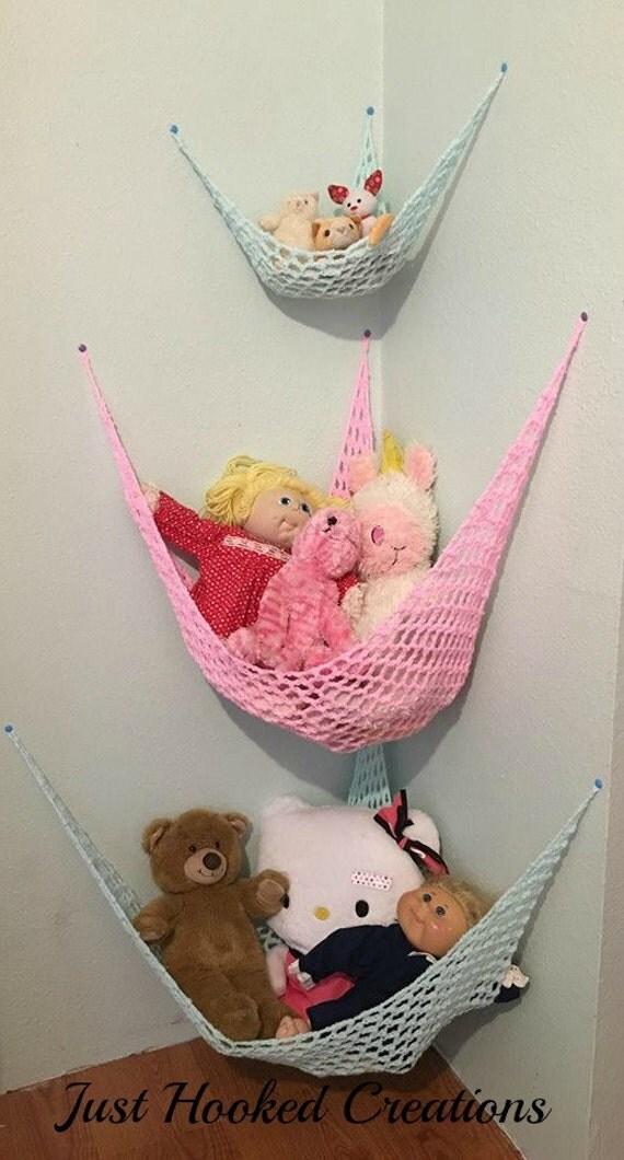Toy Net, Stuffed Animal Storage, Toy Storage, Storage For Kids Room, Child Room Decor, Toy Box, Toy Storage Container, Storage For Kid Room