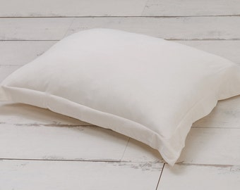 Cream Pillow Sham Bed Pillowcase Minimalist Neutral Organic cotton bedding