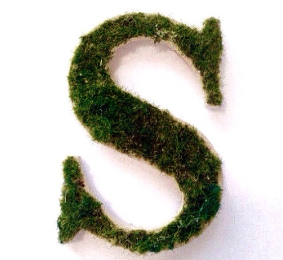 Moss Covered Letters: Moss Letter Monogram Handmade Preserved By LondonGraceBoutique