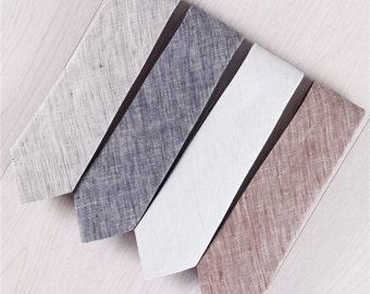 light blue ties for wedding.mens gray ties.brown linen necktie.neckties with gift box.grey ties.solid color ties.pure color ties+nt.416s