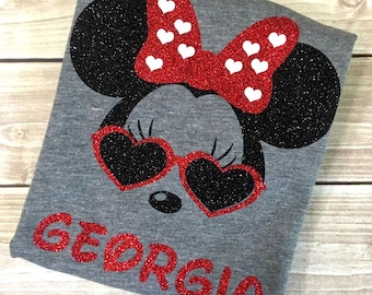 Cool Mouse Shirt, Cool Mouse, Personalized Shirt, Mouse Dress, Minnie Shirt, Disney Vacation, Minnie,Custom Shirt,Mouse Ears,Family Vacation