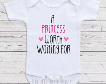 "Cute Baby Girl Clothes "" A Princess Worth"" Cute Clothes for Baby Girls, Baby Shower Gifts, Newborn Clothing, Baby Clothes B10"