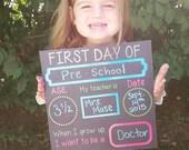 1st day of school chalkboard, back to school chalkboard sign, reusable, photo prop, first day of school chalkboard