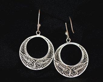 Silver 925 Filigree earings