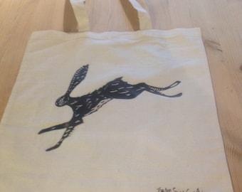 Hare tote bag