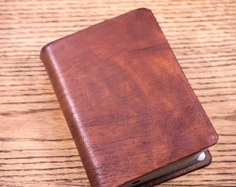 Full Grain Cowhide Leather Bible, NIV Large Print Compact