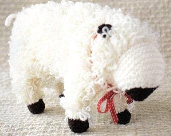 Animal Pillow Knitting Patterns : Large Amigurumi Sheep Crochet Pattern Sheep Amigurumi Pillow Toy Crochet Pattern Printable PDF ...