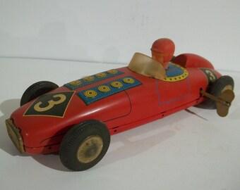 Vintage Wind Up Tin Race Car