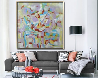 Large oil Pinting-Original oil painting on canvas-Abstract painting-#10