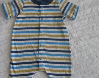 6-9 month baby boy summer romper