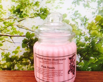 Pink Sands Scented Soy Candle