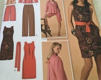 Plus size dress, pants, jacket pattern