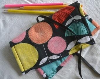 Fabric pencil roll, pen roll, pencil case