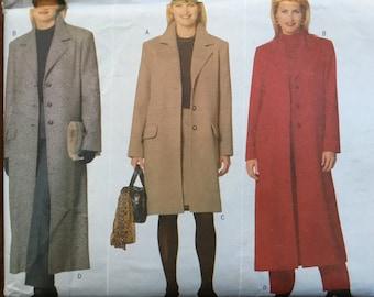 Coat jacket pattern Plus Size larger figure 5274 Sewing Pattern Butterick Ladies Coat 20 22 24 Uncut