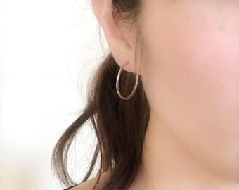 Non pierced hoop earrings, pierced look hoop earrings everyday jewelry