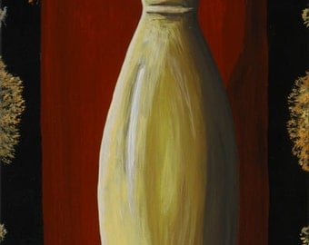 40 x 80 cm acrylics on canvas glaze vase